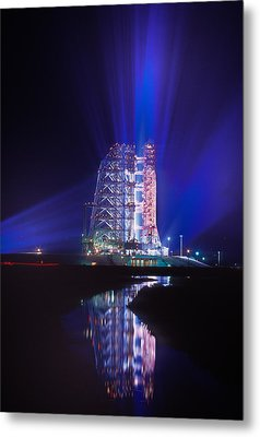 Apollo 11 Sits On Its Launchpad Metal Print by O. Louis Mazzatenta