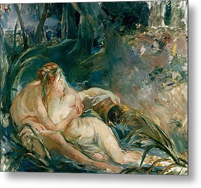 Apollo Appearing To Latone Metal Print by Berthe Morisot