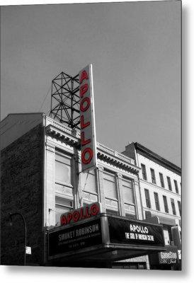 Apollo Theater In Harlem New York No.2 Metal Print by Ms Judi