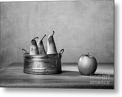 Apple And Pears 02 Metal Print by Nailia Schwarz