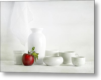 Apple Metal Print by Matild Balogh