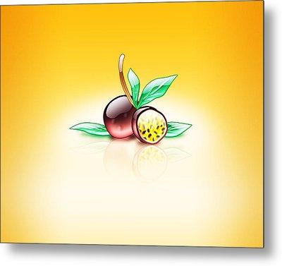 Aqua Passion Fruit  Metal Print by Mohamed Riyah