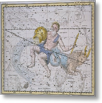 Aquarius And Capricorn Metal Print by A Jamieson