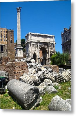 Arch Of Septimius Severus Metal Print by Gregory Dyer