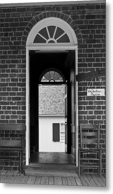 Arched Doors Appomattox Virginia Metal Print by Teresa Mucha