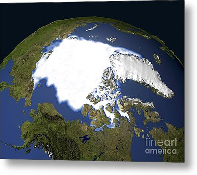 Arctic Sea Ice, 1979 Metal Print by NASA / Science Source