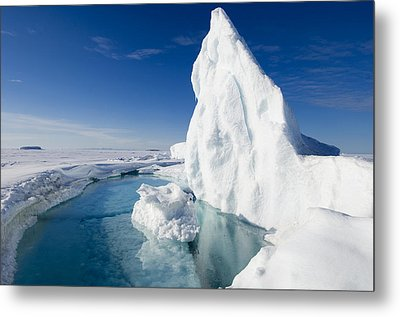 Arctic Sea Ice Melting, Canada Metal Print by Louise Murray