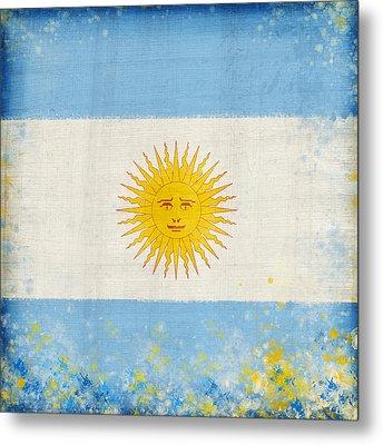 Argentina Flag Metal Print by Setsiri Silapasuwanchai