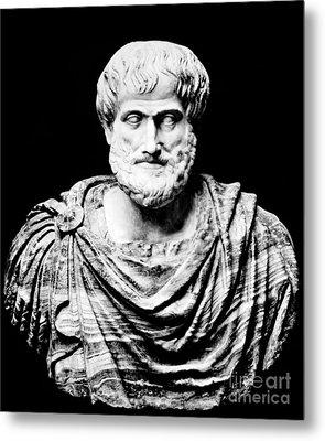 Aristotle, Ancient Greek Philosopher Metal Print by Omikron