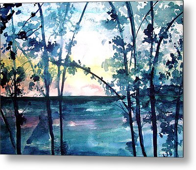 Arkansas Sunset Metal Print by Robin Miller-Bookhout