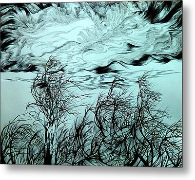 Arrival Of Chinook Metal Print by Anna  Duyunova
