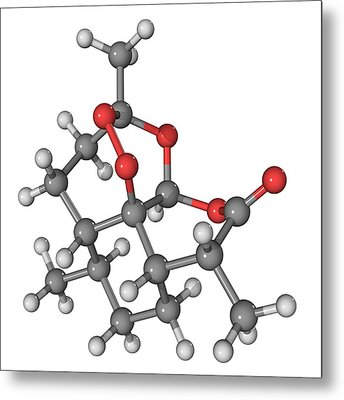Artemisinin Malaria Drug Molecule Metal Print by Laguna Design