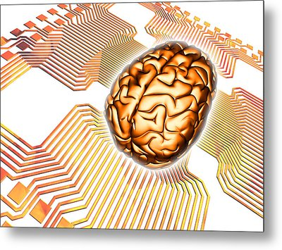 Artificial Intelligence, Computer Artwork Metal Print by Pasieka