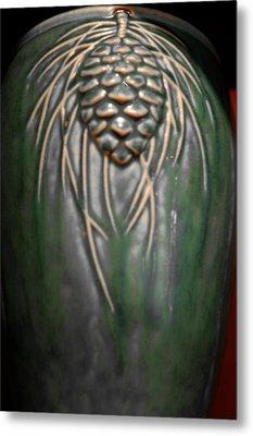 Artistic Pine Cone Vase Metal Print by LeeAnn McLaneGoetz McLaneGoetzStudioLLCcom