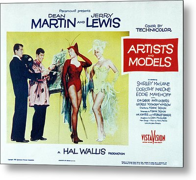 Artists And Models, Dean Martin, Jerry Metal Print by Everett