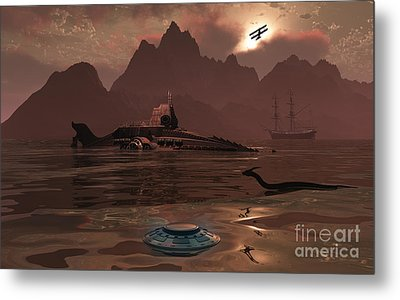 Artists Concept Of An Ancient Metal Print by Mark Stevenson