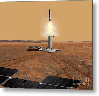 Artists Concept Of An Ascent Vehicle Metal Print by Stocktrek Images
