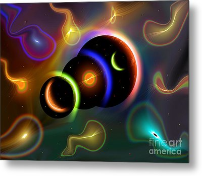 Artists Concept Of Cosmic Portals Metal Print by Mark Stevenson