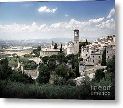 Assisi Italy - Bella Vista - 01 Metal Print by Gregory Dyer