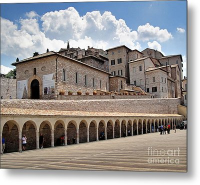 Assisi Italy Entrance Metal Print by Gregory Dyer