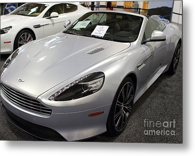 Aston Martin Virage Convertible . 7d9626 Metal Print by Wingsdomain Art and Photography