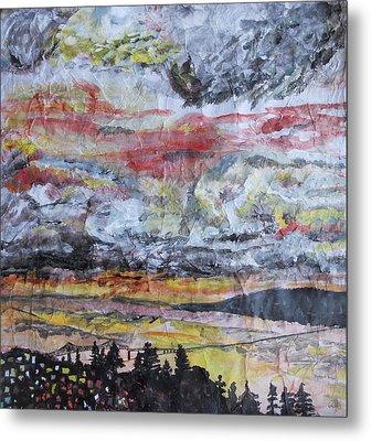 Astoria Megler Bridge Sunset Metal Print by Rachel Biddlecome