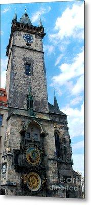 Astronomical Clock In Prague Metal Print by Pravine Chester
