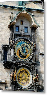 Astronomical Clock Metal Print by Pravine Chester