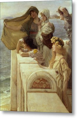 At Aphrodite's Cradle Metal Print by Sir Lawrence Alma-Tadema