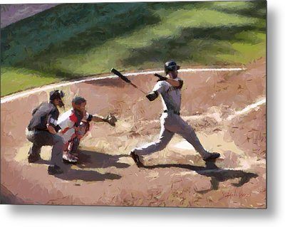 At Bat Metal Print by Lynne Jenkins