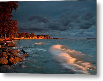 At Sun's First Break Metal Print by At Lands End Photography