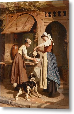 At The Dairy Metal Print by Theodore Gerard