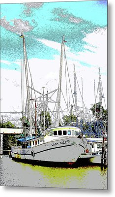 At The Dock Metal Print by Barry Jones