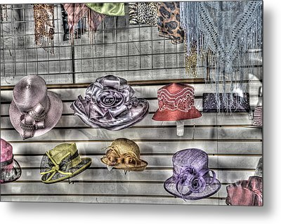 At The Milliners Metal Print by William Fields