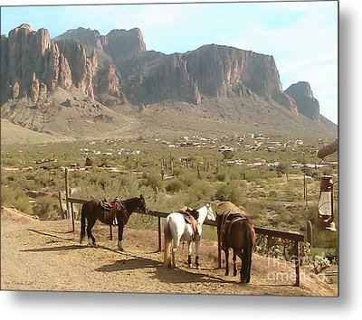 At Trail's End Metal Print by Cristophers Dream Artistry