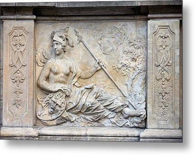 Athena Relief In Gdansk Metal Print by Artur Bogacki