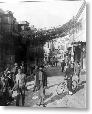 Athens Greece  C 1903 - Aeolos Street And The Stoa Of Hadrian Metal Print by International  Images