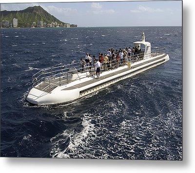 Atlantis Submarine - Waikiki Bay Hawaii Metal Print by Daniel Hagerman