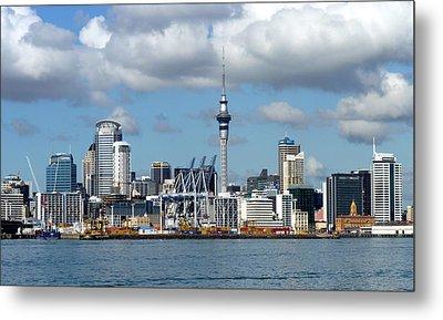 Auckland Skyline Metal Print by Carla Parris