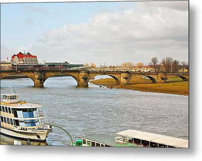 Augustus Bridge Dresden Germany Metal Print by Christine Till