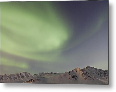 Auroras Over Mountains Metal Print by Tim Grams