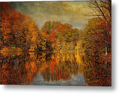 Autumn - Landscape - Tamaques Park - Autumn In Westfield Nj  Metal Print by Mike Savad