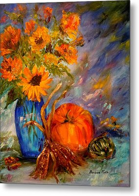 Autumn Impressions Metal Print by Barbara Pirkle