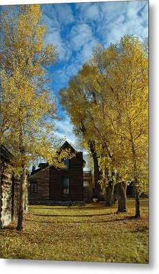 Autumn In Montana's Nevada City Metal Print by Bruce Gourley