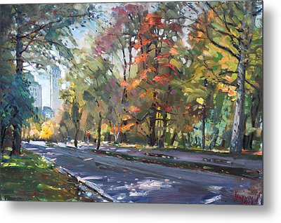 Autumn In Niagara Falls Park Metal Print by Ylli Haruni