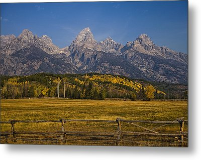 Autumn In The Tetons Metal Print by Andrew Soundarajan