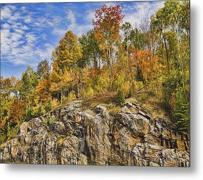 Autumn On The Rocks Metal Print by Jo-Anne Gazo-McKim