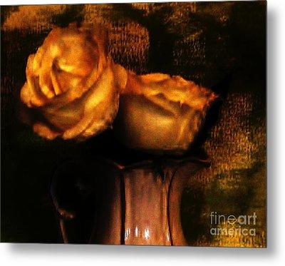 Autumn Roses Metal Print by Marsha Heiken