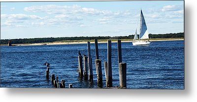 Autumn Sail Metal Print by Mary Capriole