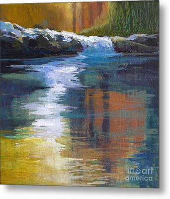 Autumnal Reflections Metal Print by Melody Cleary